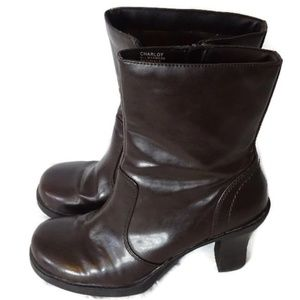 Mudd Charlot Low Boot Women Size 8.5M Brown Zipper